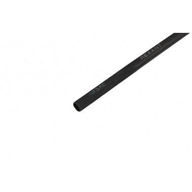 Клеевая 18.0 / 6.0мм (3:1) 1м термоусадка  черная  REXANT, шт