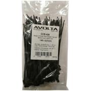 Хомут-стяжка пластиковый черный 140 х 2,5 мм d=25, (упак 100 шт)