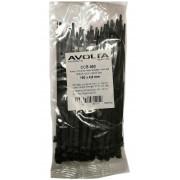 Хомут-стяжка пластиковый черный 160 х 4,8 мм d=36, (упак 100 шт)