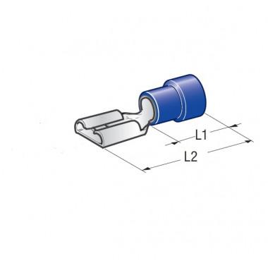 Клемма изолированная CuZn-Sn PVC мама, сечение провода 1-1,25, шт