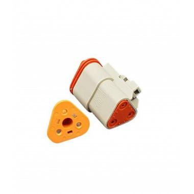 Разъем (без клемм) 3-контактный мама с защелкой W3S (комплект)