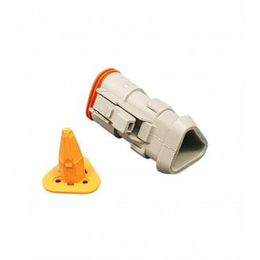 Разъем (без клемм) 3-контактный мама с защелкой W3S (комплект) (DT 06-3 S-E008 + W3S)