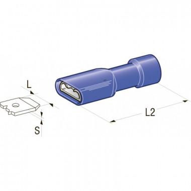 Клемма изолированная 6,3 CuZn-Sn PVC мама, сечение провода 1-2,5, шт