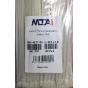 Хомут-стяжка пластиковый белый 290 х 3,6 мм d=75