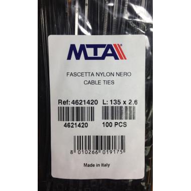 Хомут-стяжка пластиковый черный 135 х 2,6 мм d=25