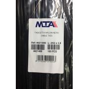 Хомут-стяжка пластиковый черный 250 х 4,8 мм d=62