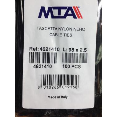Хомут-стяжка пластиковый черный 98 х 2,5 мм d=20