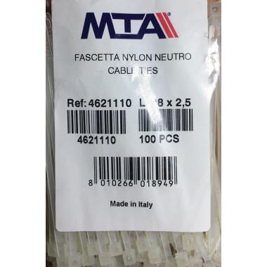 Хомут-стяжка пластиковый белый 140 х 3,6 мм d=30