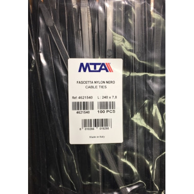 Хомут-стяжка пластиковый черный 120 х 7,8 мм d=20