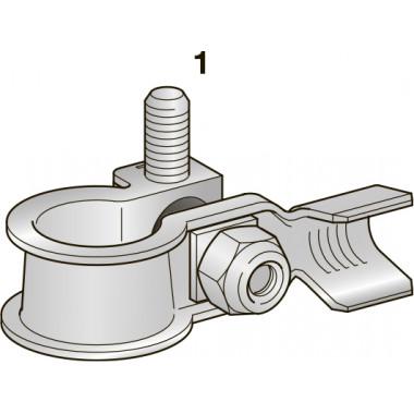 Клемма АКБ DX CuZn-Sn - М6, сечение провода 10-20, шт