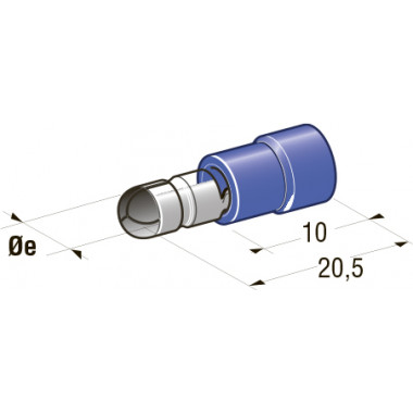 Клемма вилочная изолированная d=4,3 Cu-Sn PA66 сечение провода 1-2,5