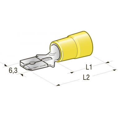 Клемма изолированная папа CuZn-Sn PVC, М630 сечение провода 2,5-6, шт