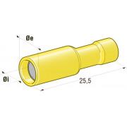 """Клемма изолированная цилиндрическая """"мама"""" d=5 CuZn-Sn PVC, сечение провода 2,5-6, шт"""