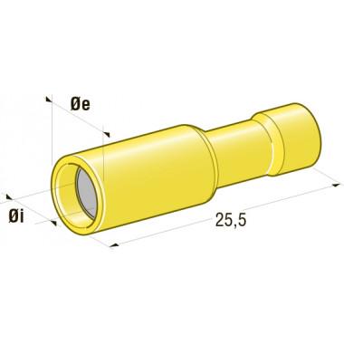 Клемма изолированная цилиндрическая мама d=5 CuZn-Sn PVC, сечение провода 2,5-6, шт