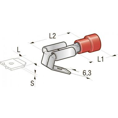 Клемма изолированная PIGGY BACK CuZn-Sn PVC папа, сечение провода 0,25-1