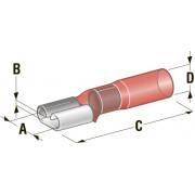 """Клемма """"мама"""" в термоусадке d=6,35 CuZn-Sn PE сечение провода 0,25-1"""