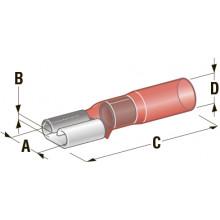 Клемма мама в термоусадке d=6,35 CuZn-Sn PE сечение провода 0,25-1