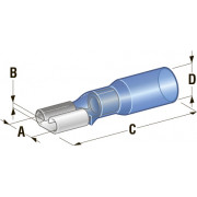 """Клемма """"мама"""" в термоусадке d=6,35 CuZn-Sn PE сечение провода 1,25-2,5"""