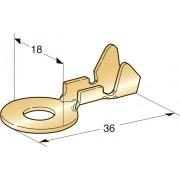 Клемма неизолированная кольцевая М10 CuZn, сечение провода 4-6