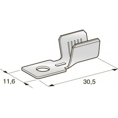 Клемма неизолированная кольцевая MIDI М5 CuZn-Sn, сечение провода 10-16, шт