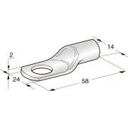 Клемма неизолированная кольцевая TUBOLAR M13 Cu-Sn сечение провода 75