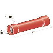 Клемма соединитель в термоусадке d=1,7 CuZn-Sn PVC сечение провода 0,25-1