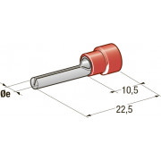 Клемма соединитель в термоусадке d=1,9 CuZn-Sn PA66 сечение провода 0,25-1, шт