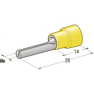 Клемма соединитель в термоусадке d=2,7 CuZn-Sn PA66 сечение провода 2,5-6