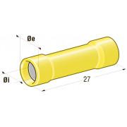 Клемма соединитель в термоусадке d=3,4 CuZn-Sn PVC сечение провода 2,5-6
