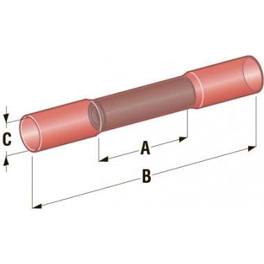 Клемма соединитель в термоусадке d=4,2 Cu-Sn PE сечение провода 0,75-1,25