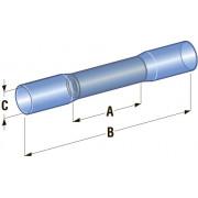 Клемма соединитель в термоусадке d=4,2 Cu-Sn PE сечение провода 1,25 - 2,5