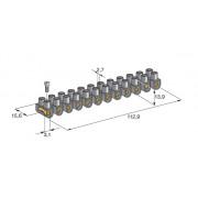 Колодка электрическая клеммная 12 каналов 380V 24A под сечение провода 6