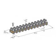 Колодка электрическая клеммная 12 каналов 450V 24A под сечение провода 10