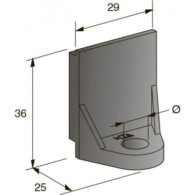 Кронштейн монтажный мама 8,5 мм, шт