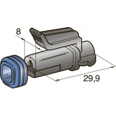 Разъем серии seal 1-контактный мама 2,8, шт