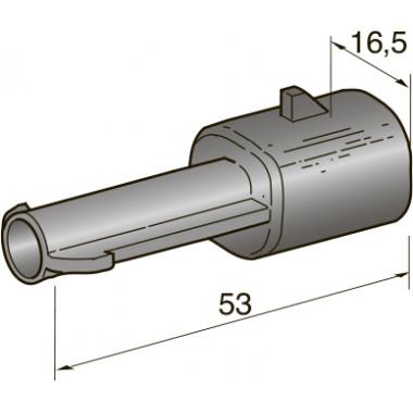 Разъем серии seal 1-контактный папа 2,8, шт