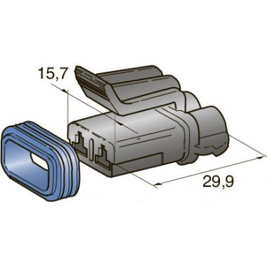 Разъем серии seal (2,8) 2-контактный мама, шт