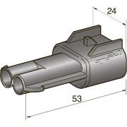Разъем серии seal (2,8) 2-контактный папа, шт