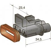 Разъем серии seal 3-контактный мама 2,8, шт