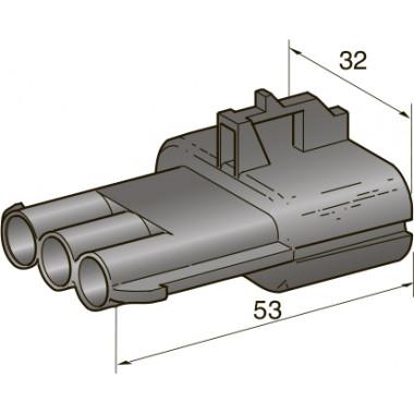 Разъем серии seal 3-контактный папа 2,8, шт