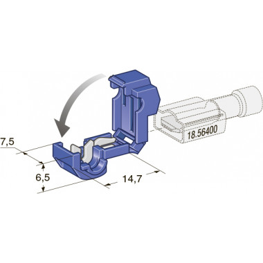 Соединитель клеммный врезной (2,50-6,00 мм2)