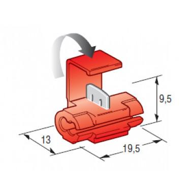 Соединитель клеммный ножевого типа (0,25-1,00 мм2)