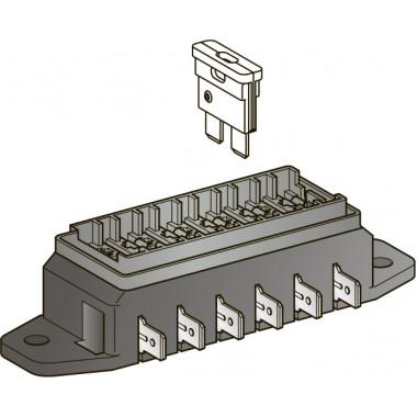 Блок монтажный с Клеммами под 6 предохранителей UNIVAL (без крышки)