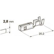 Клемма неизолированная MINI F280 WP CuFe-Sn, сечение провода 0,35-0,75, шт