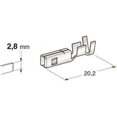 Клемма неизолированная MINI F280 WP CuFe-Sn, сечение провода 2,5-4,0, шт