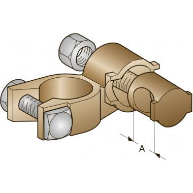 Клемма АКБ медная -, втулочное соединение, сечение провода 25, шт