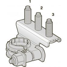 Клемма АКБ CuZn-Sn + три шплинта М8-М6-М8, шт