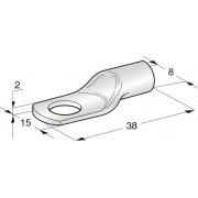 Клемма неизолированная кольцевая TUBOLAR M10 Cu-Sn сечение провода 25