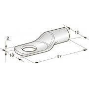 Клемма неизолированная кольцевая TUBOLAR M10 Cu-Sn сечение провода 35