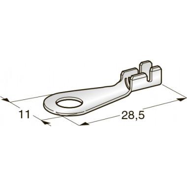 Клемма неизолированная кольцевая М8 CuZn-Sn, сечение провода 4-6, шт